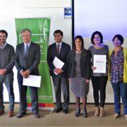 Representantes de Acción Emprendedora, Fundación Banigualdad y Universidad Gabriela Mistral. (Fuente: AE)